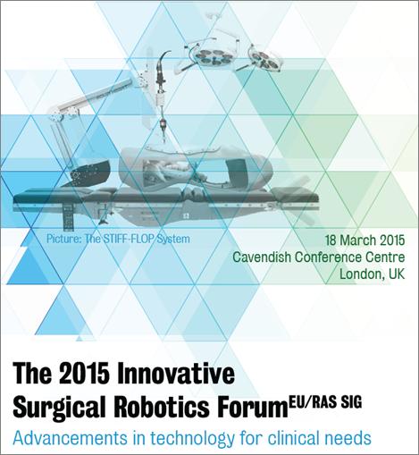 The 2015 Innovative Surgical Robotics Forum